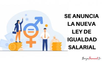 Se anuncia la nueva ley de igualdad salarial