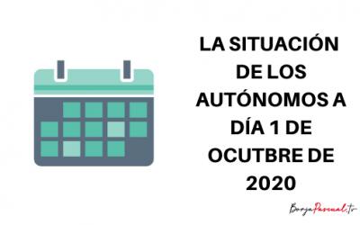 La situación de los autónomos a 1 de octubre de 2020