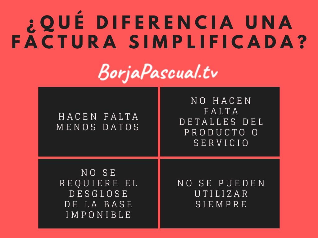 Qué diferencia una factura simplificada?